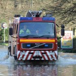 Surrey Fire and Rescue at work rescuing people from flooded homes in Godalming. - Picture EV Online - Via Twitter