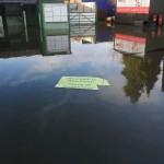 Godalming Town FC Stadium - Wey Court  is hit by the floods - Picture Godalming Town FC via Twitter