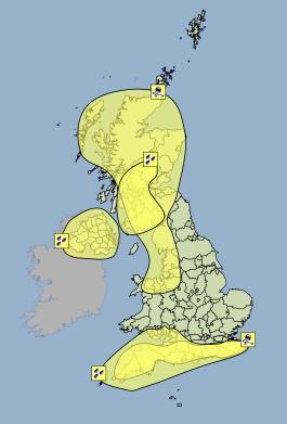 warnings for sunday 5th january 2013 picture from the met office