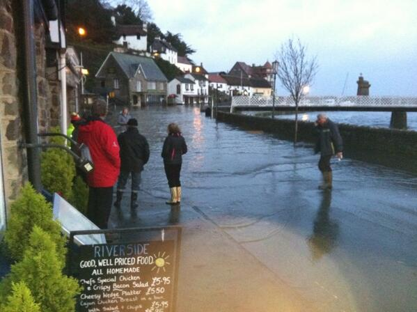 Lynmouth Floods Friday 3rd January 2014 Tidal Surge
