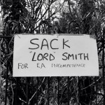 Somerset residents call for the resignation or dismissal of Lord Smith of the Environment Agency.