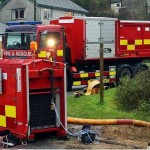 Cornwall fire and rescue send high volume pumps to Somerset to assist with flooding crisis.