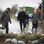 David Cameron meeting with farmers affected by the floods.