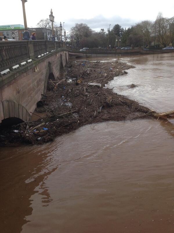 Worcester Flooding 9th February The River Severn