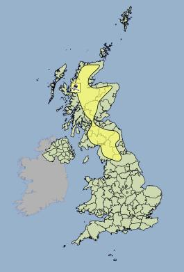 Yellow weather warning of ice